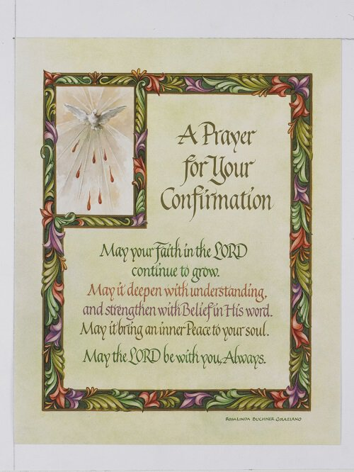 Confirmation Prayer - Print