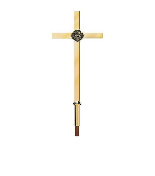 Solid Brass Processional Cross