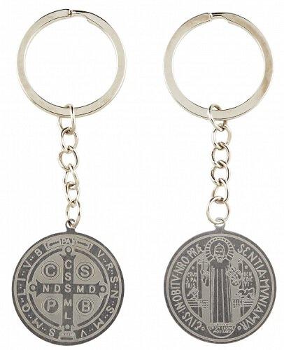 St. Benedict Laser Engraved Key Chain - 12/pk