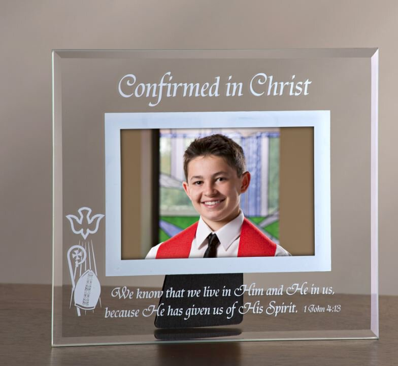 Confirmed in Christ Glass Confirmation Photo Frame - 6/pk