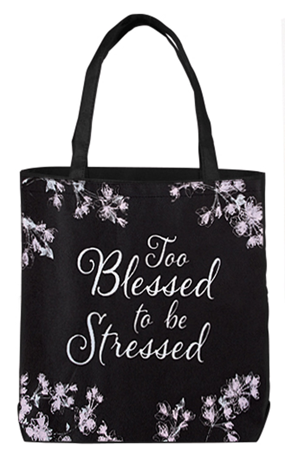 Too Blessed to be Stressed Tote Bag - 12/pk