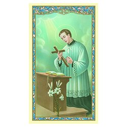 St. Aloysius Gonzaga Holy Card - 100/pk