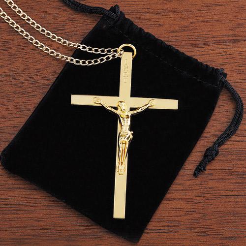 Gold Clergy Crucifix - 3/pk