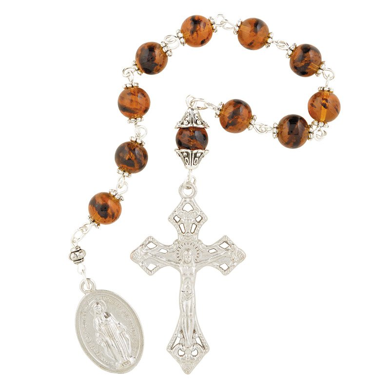 Tiger Eye Pocket Rosary - 6/pk