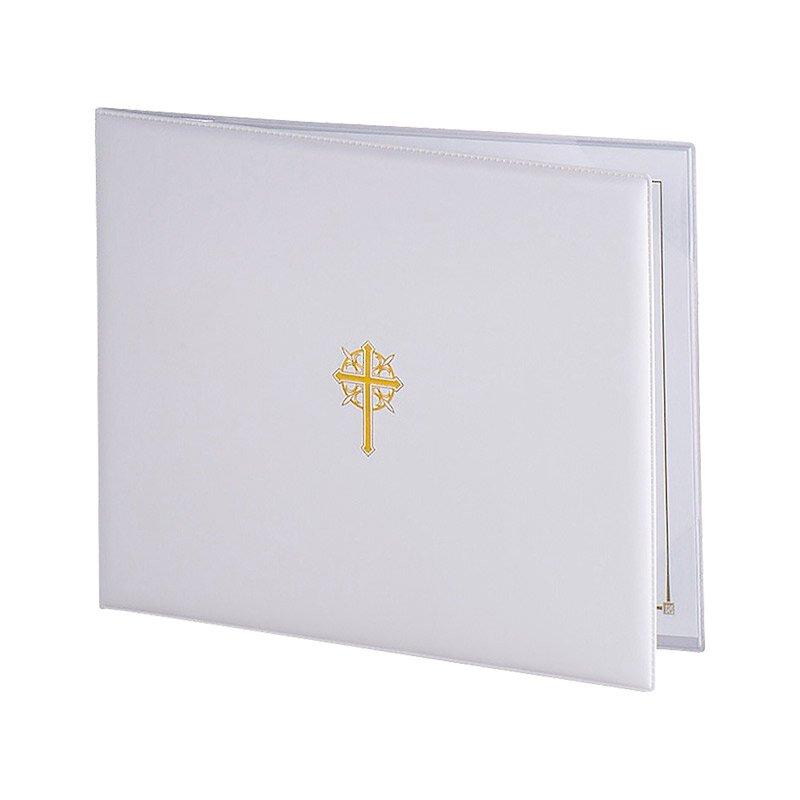 Sacramental Certificate Holder - White - 6/pk
