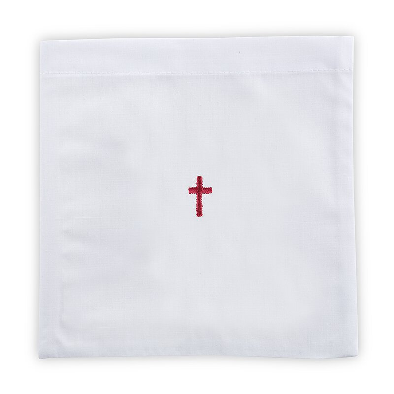 Red Cross Chalice Pall 12/pk, Poly Cotton Blend