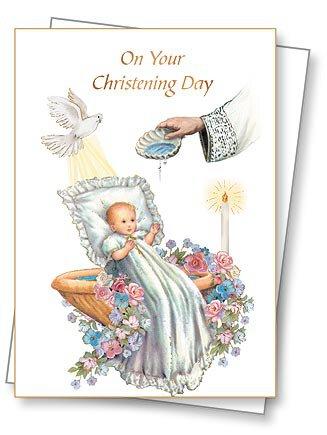 Christening Greeting Card with Envelope - 6/pk