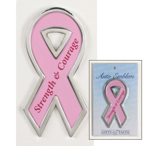 Strength & Courage Pink Magnetic Ribbon - 4/pk