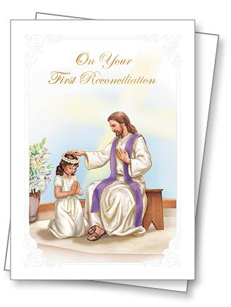 First Reconciliation - Girl Greeting Card with Envelope