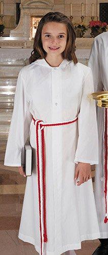 Alter Server Monastic Alb with Hood