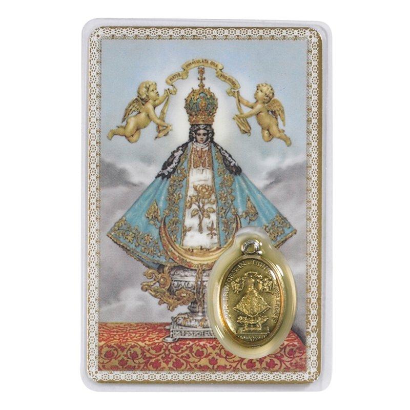 San Juan de los Lagos Holy Card with Medal