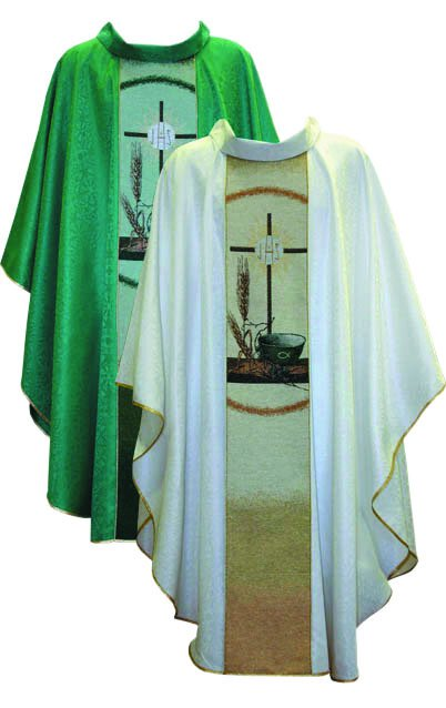 I H S Cross/Wheat Chasuble