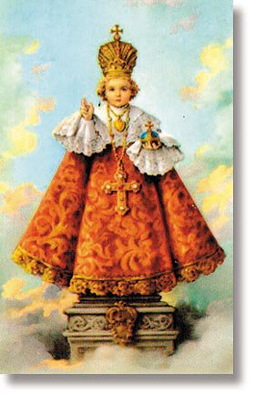 Infant of Prague Wallet Sized Holy Card