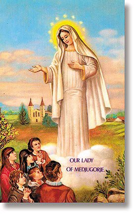 Our Lady of Medjugorje Wallet Sized Holy Card