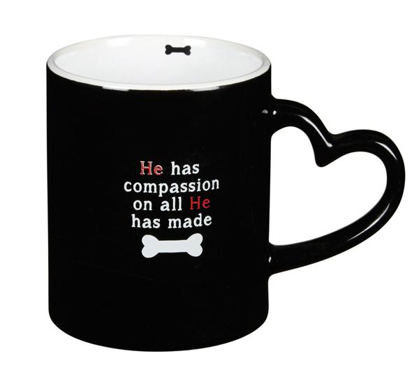 I Love My Dog Heart Handle Mug