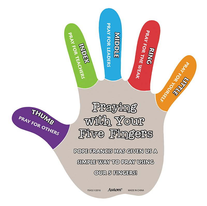 I Pray With My Five Fingers Magnetic Puzzle 24 Pk Gifts