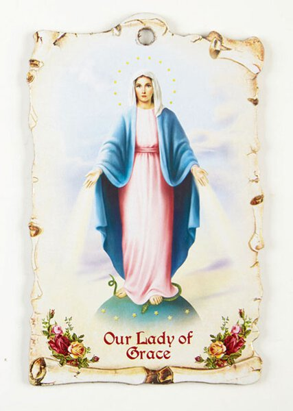 Our Lady of Grace Saint Plaque