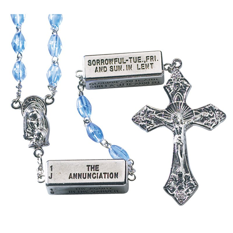 The Mysteries Rosary  - Sapphire
