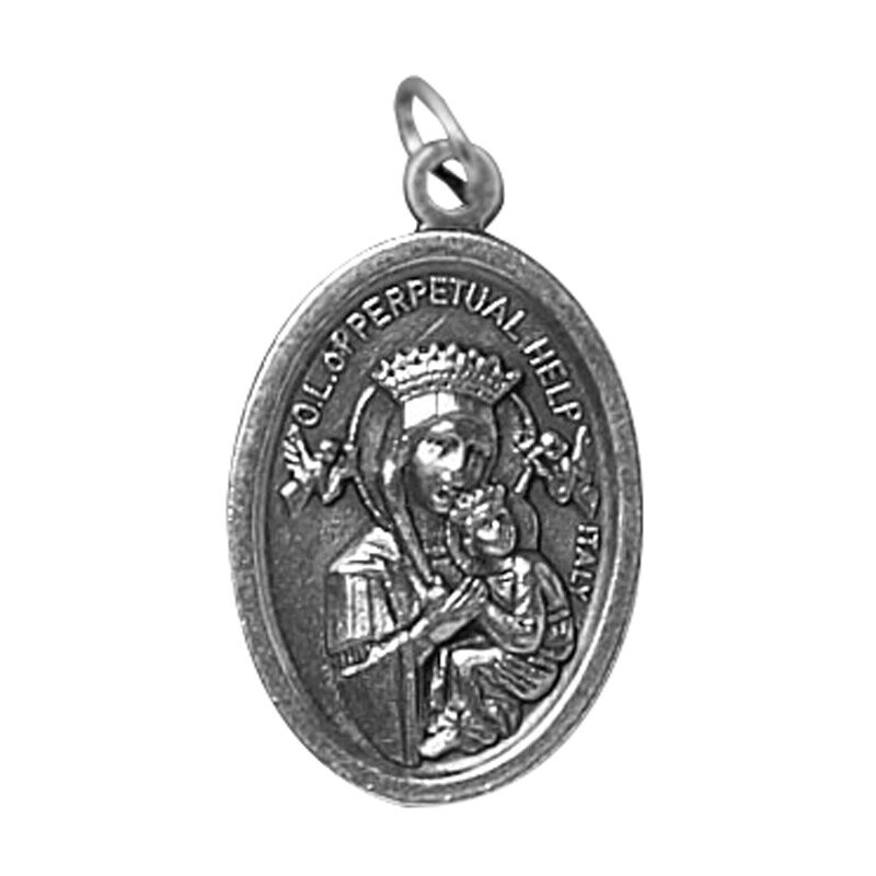 Our Lady of Perpetual Help/Protect Us Oxidized Medal - 50/pk