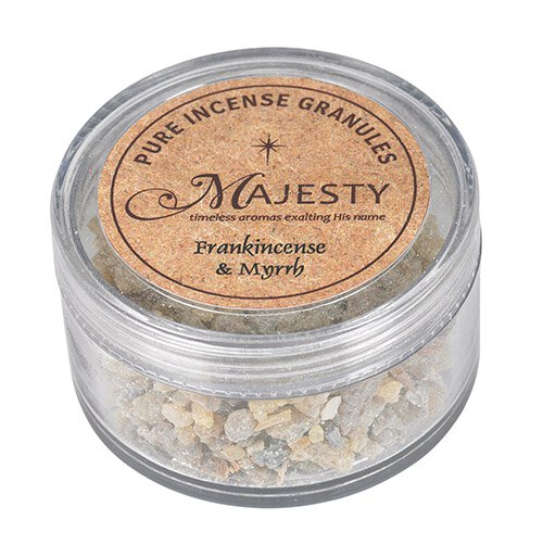 Majesty Incense : Frankincense  & Myrth1.5 oz container