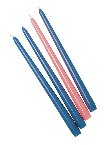 "10"" Advent Taper Candle Set - Blue/Rose - 6/pk"