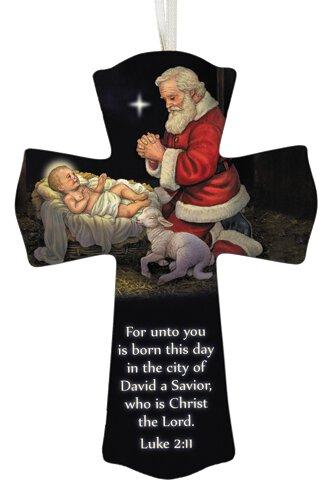 Adoring Santa Cross - 12/pk
