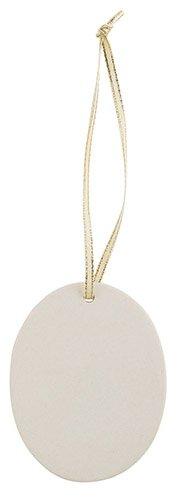Oval Personalizable Porcelain Ornament - 18/pk