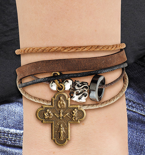 Four Way Cross Bracelet - 12/pk