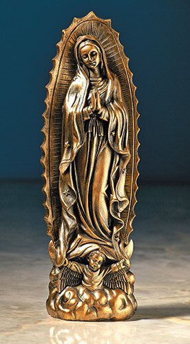 Our Lady of Guadalupe Statue with Bronze Finish