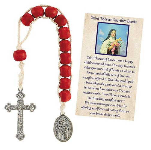 St. Therese Rose Scented Sacrifice Beads - 12/pk