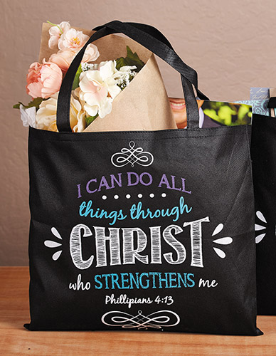 I Can Do All Things Bible Tote Bag - 12/pk