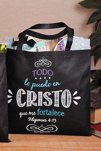 I Can Do All Things Bible Tote Bag (Spanish) - 12/pk