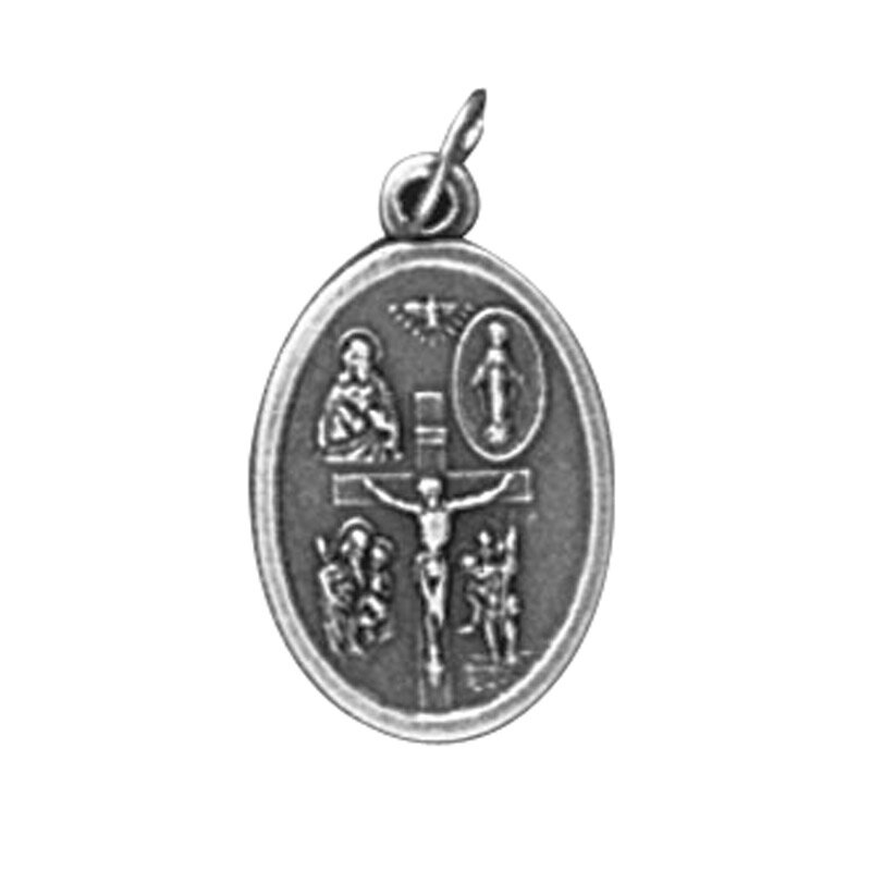 Four Way/I am a Catholic Oxidized Medal - 50/pk