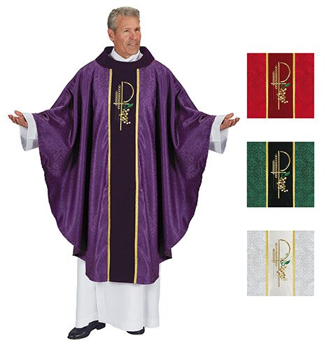 Eucharistic Jacquard Chasubles - Set of 4 Colors