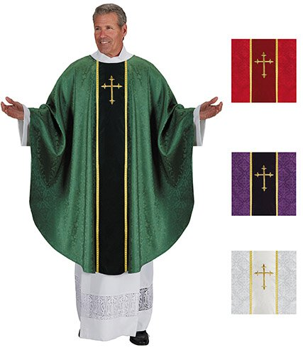 Cross Jacquard Chasubles - Set of 4