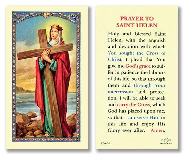St. Helen Laminated Holy Card - 25/pk