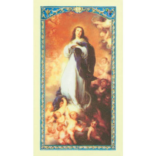 Our Lady of the Assumption Laminated Holy Card