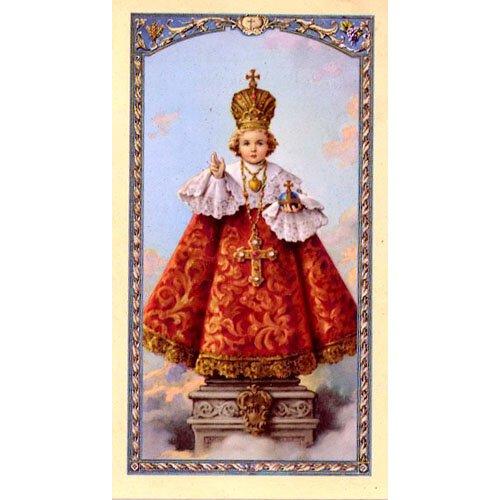 Infant of Prague Laminated Holy Card