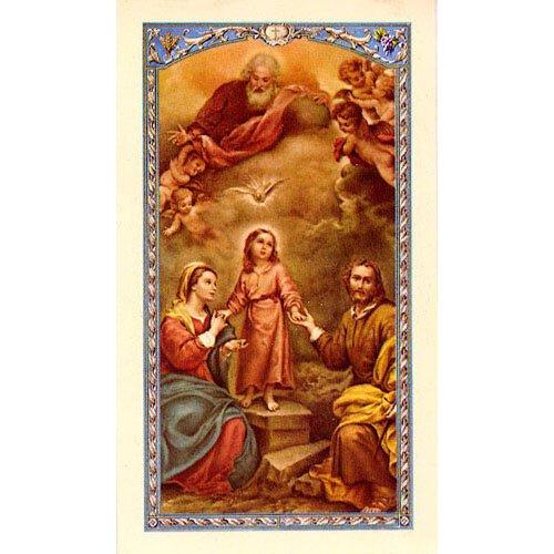 Holy Family Laminated Holy Card