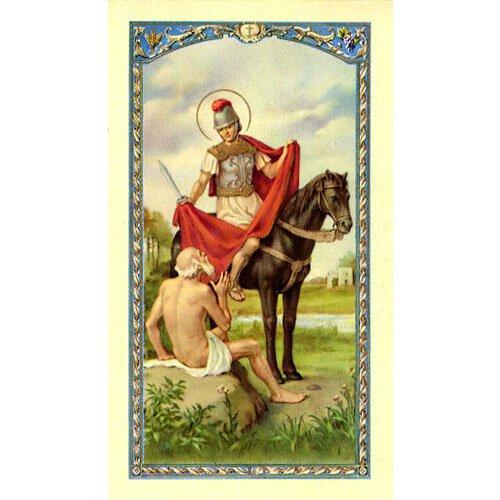 St Martin Laminated Holy Card