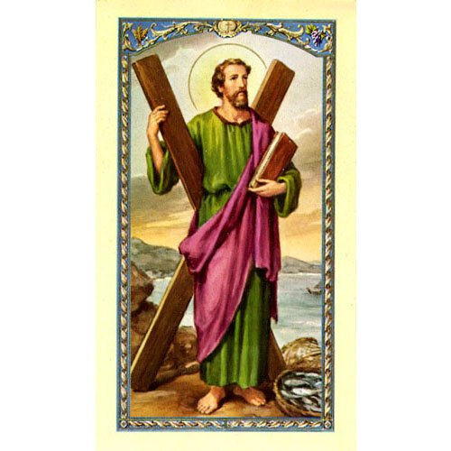 St Andrew Laminated Holy Card