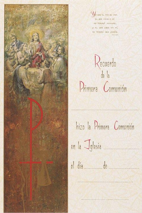 Recuerdo de la Primera Comunion Certificates
