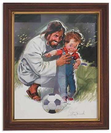 Zdinak: Jesus with Soccer Child