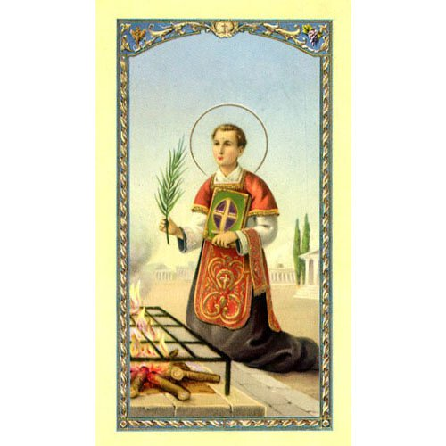 Saint Laurence Holy Card