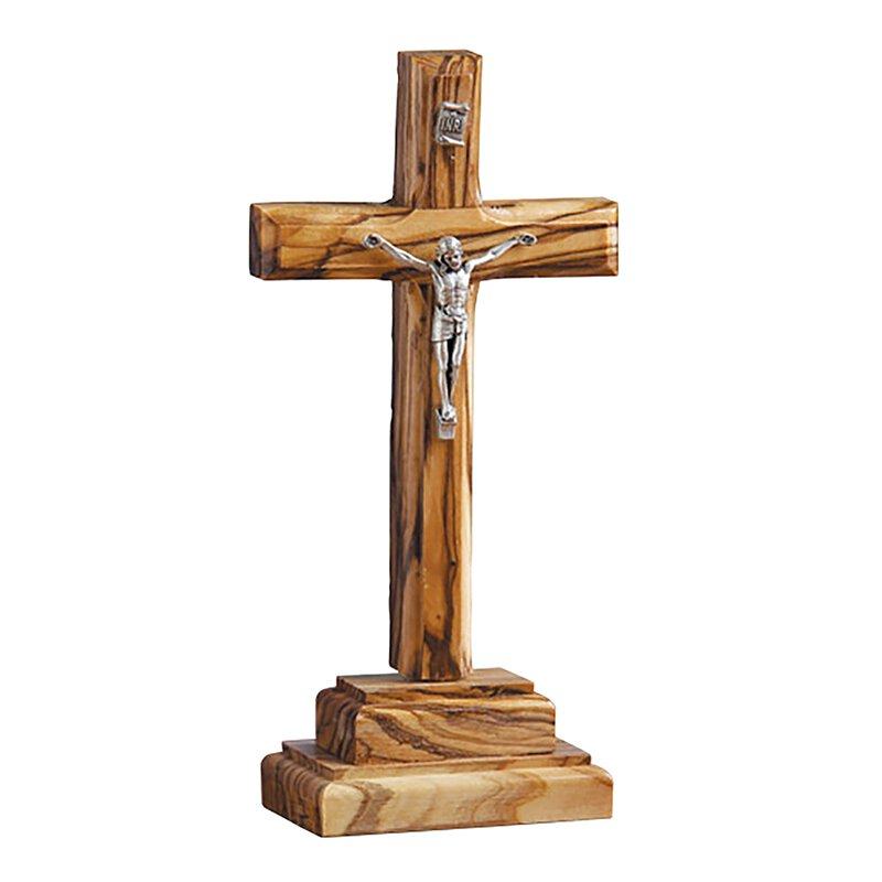 Olive Wood Standing Crucifix