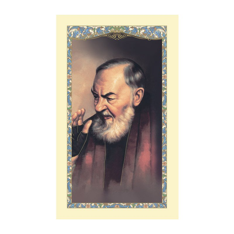 St. Pio Laminated Holy Card - 25/pk