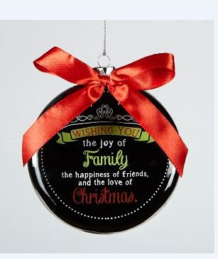 Chalkboard Blessings Ornament Wishing you Joy