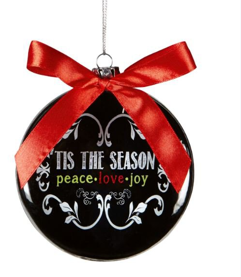 Chalkboard Blessings Tis the Season Ornament
