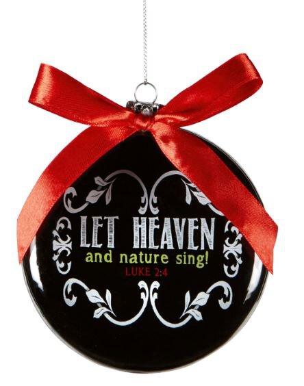 Chalkboard Blessings Let Heaven Sing Ornament