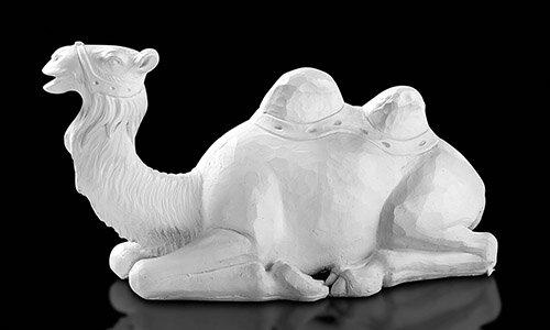 "32"" Val Gardena White Camel"